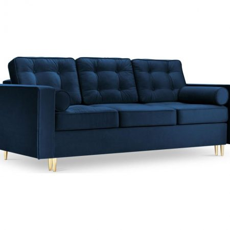 Canapea extensibila 3 locuri Palais Velvet Royal Blue and Gold